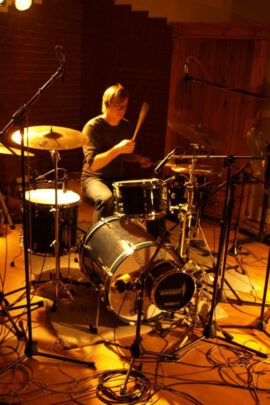 Drum recording in studio