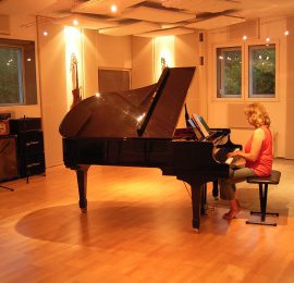 Piano recording in studio
